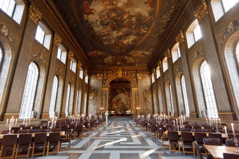 The Painted Hall vóór restauratie