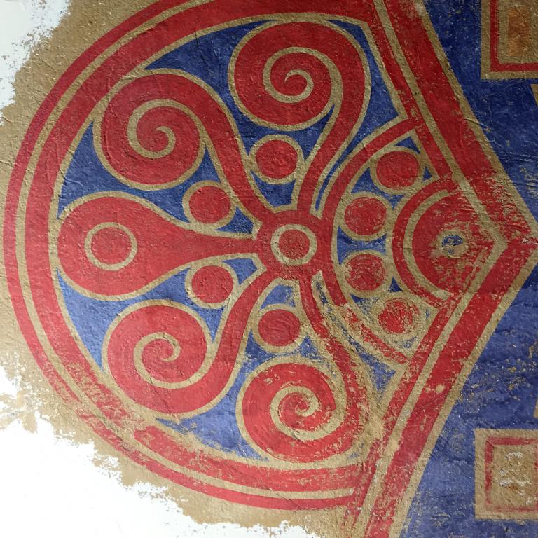 Schildering tijdens retoucheren